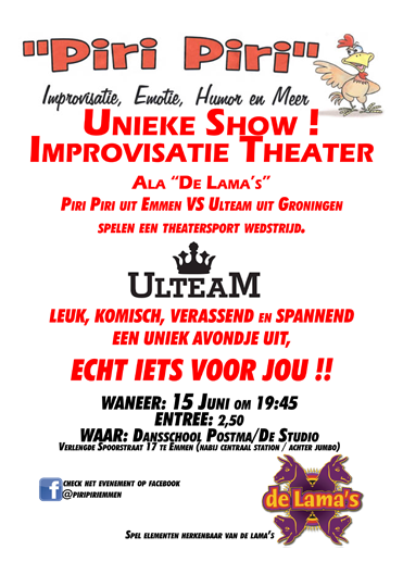 15 juni 2018 — Improvisatie Theater